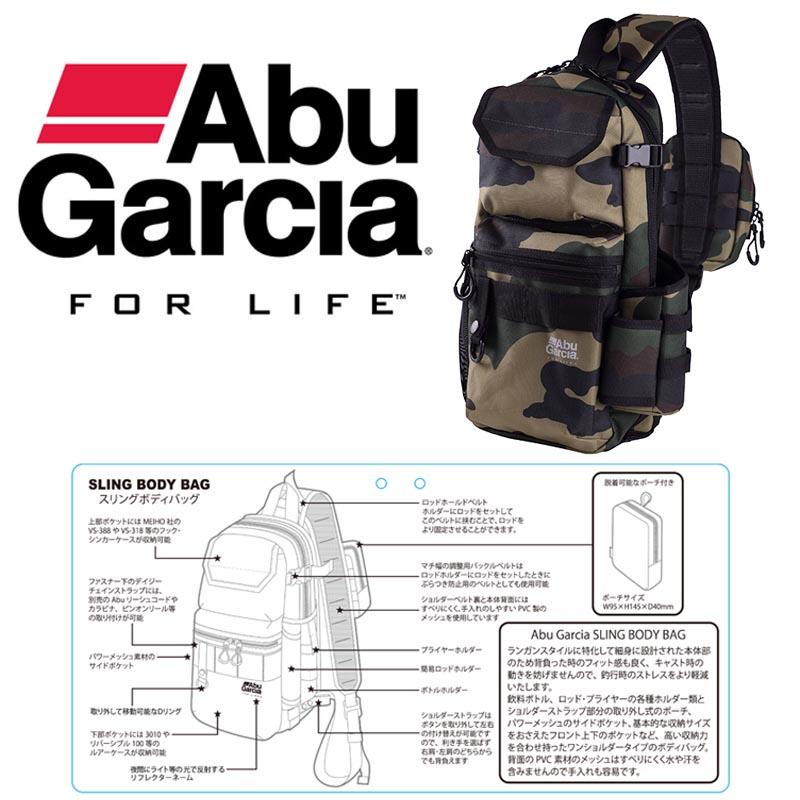ABU GARCIA SLING BODY BAG W.CAMO