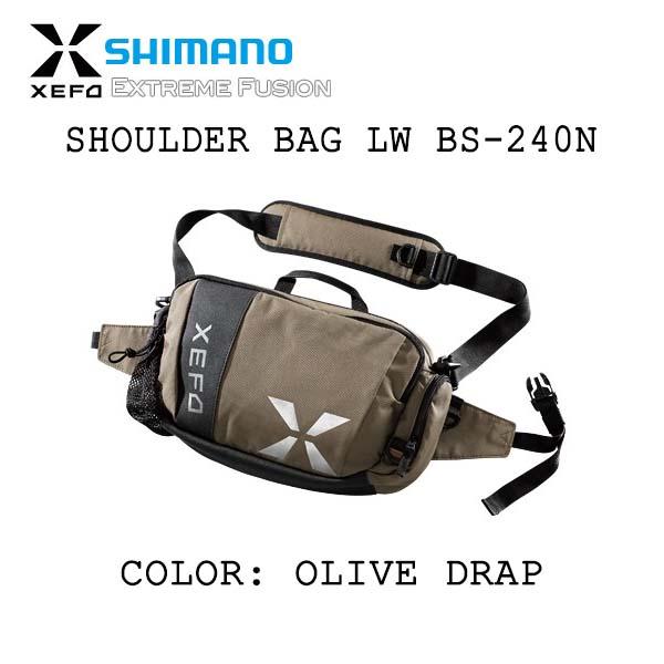 SHIMANO XEFO SHOULDER BAG LW BS-24ON OLIVE DRAP