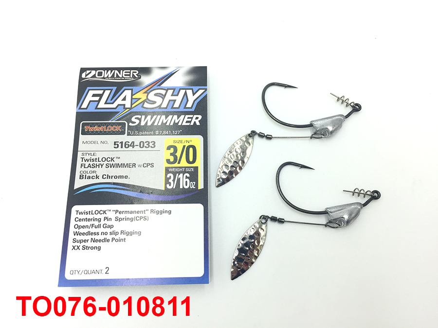OWNER TWIST LOCK FLASHY SWIMMER 3/0