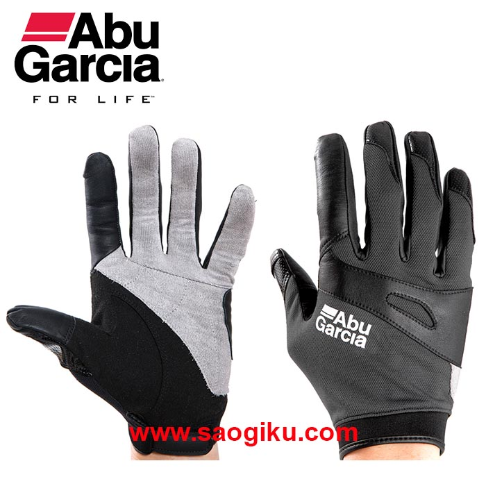 ABU GARCIA JIGGING GLOVES CHARCOAL