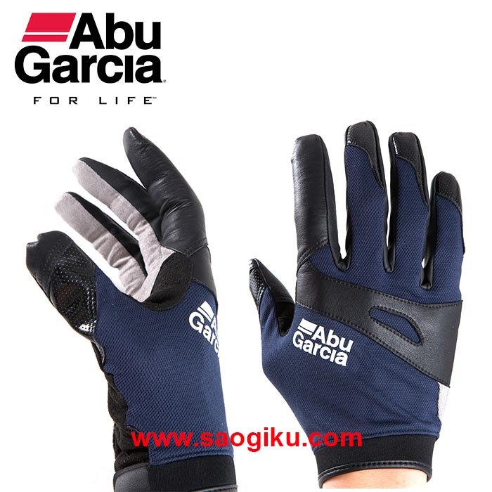 ABU GARCIA JIGGING GLOVES NAVY