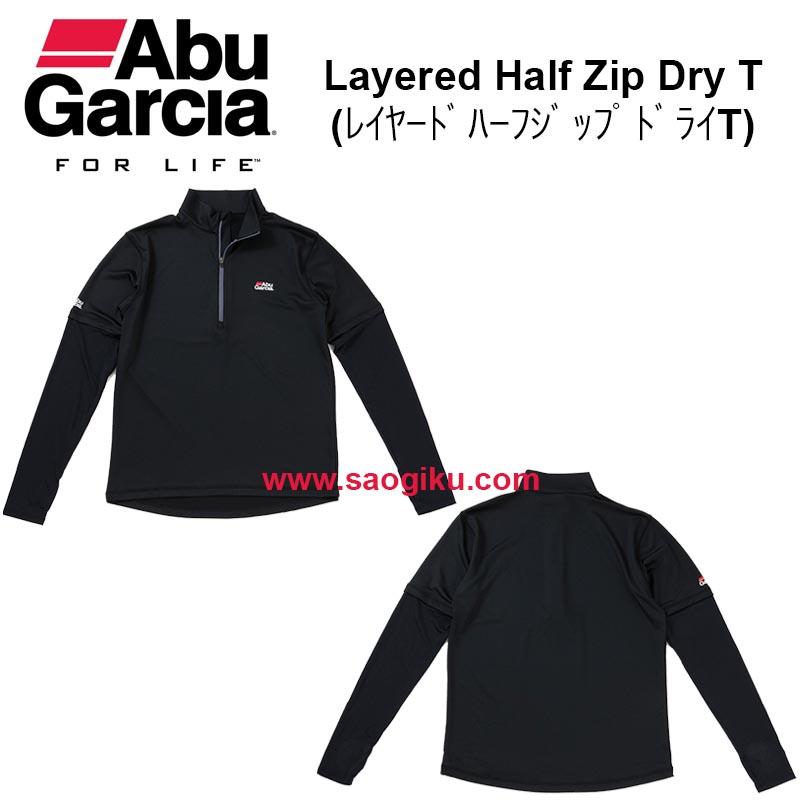 ABU GARCIA LAYERED HALF ZIP DRY T BLACK L