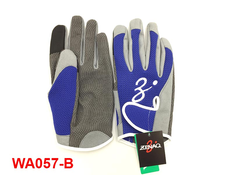 ZENAQ 3-D SHORT GLOVES BLUE #L