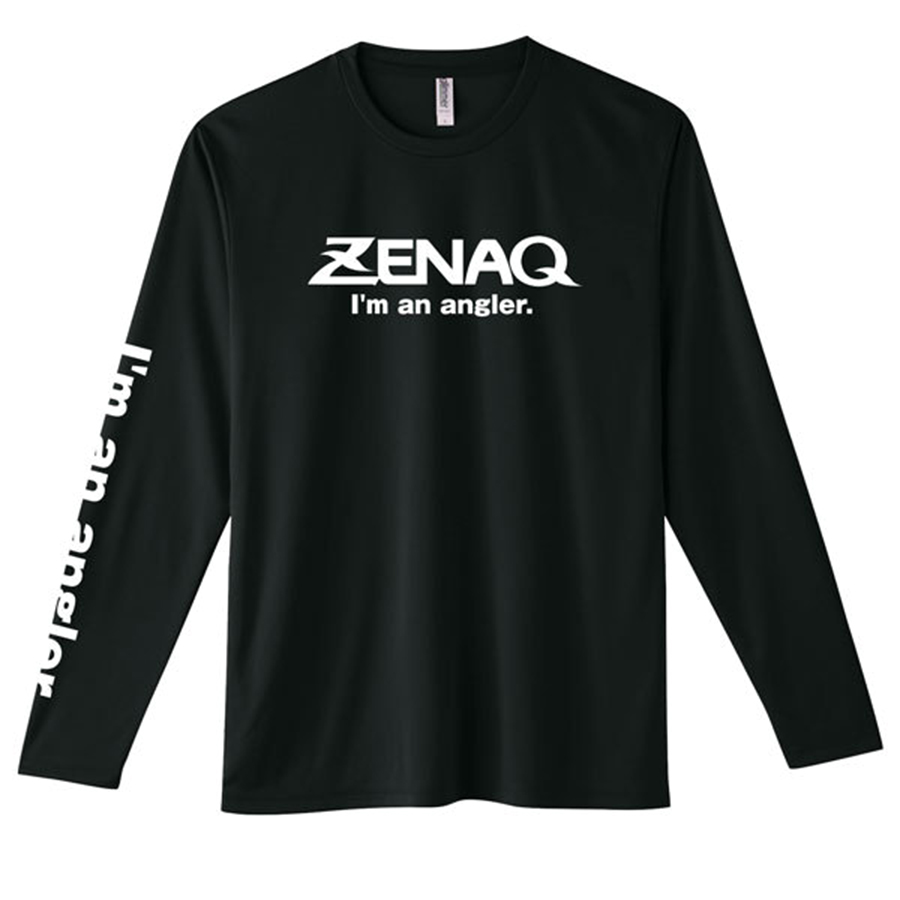 ZENAQ DRY LONG T-SHIRT #BLACK SIZE LL