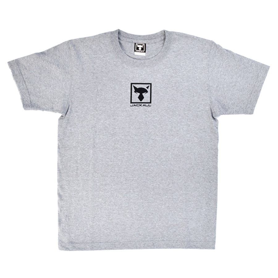 JACKALL SQUARE LOGO T-SHIRT #GRAY SIZE XL