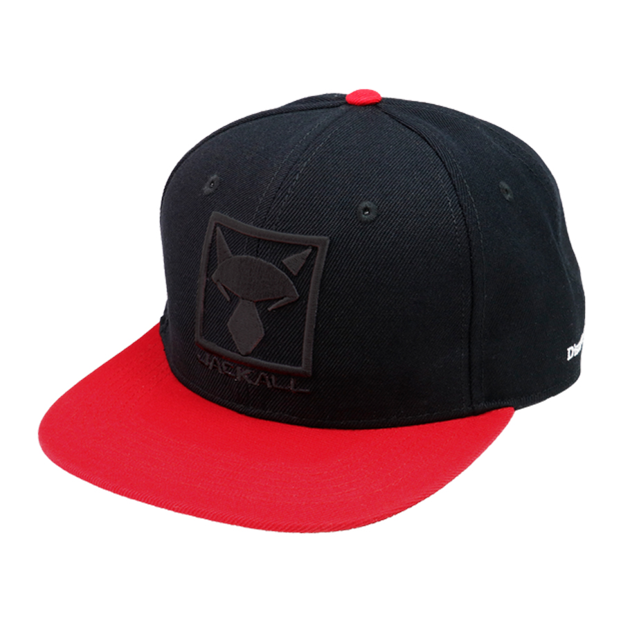 JACKALL SQUARE LOGO FLAT CAP #BLACK/ RED