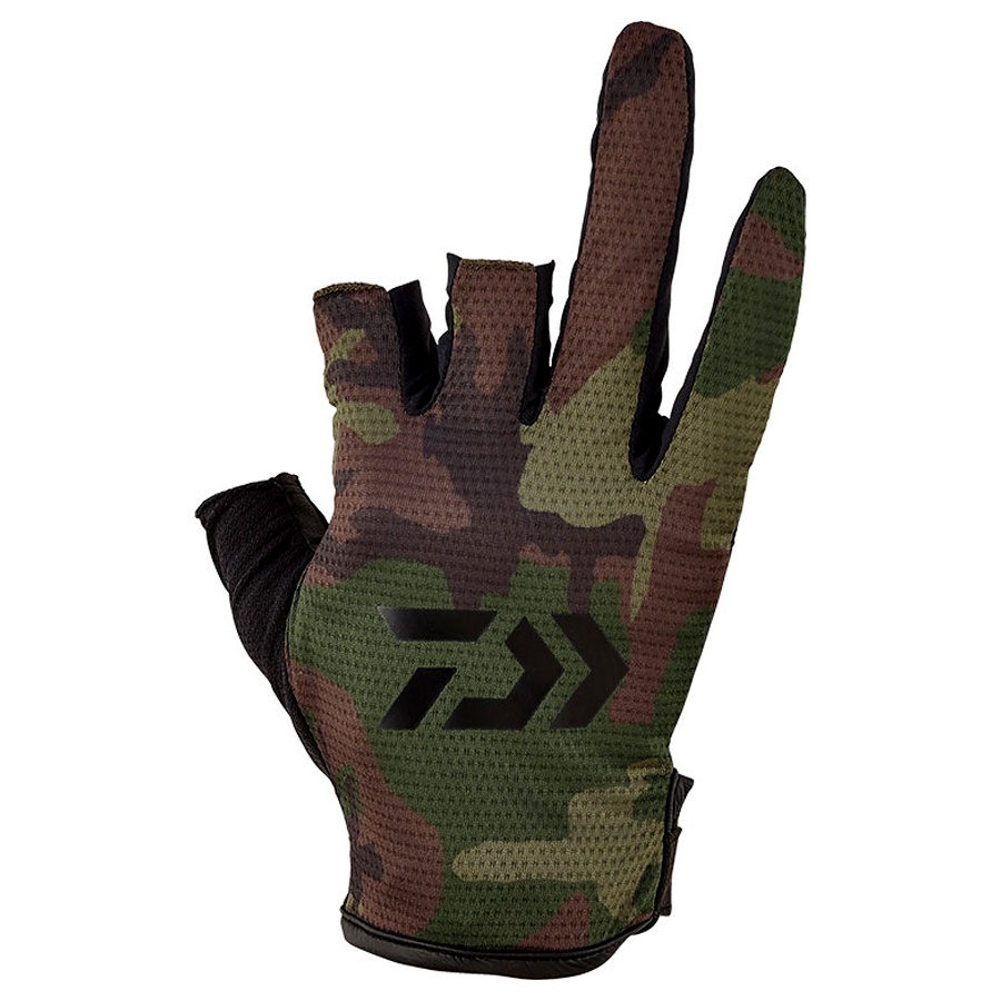 DAIWA GLOVES 3-CUTS DG-64020 #GREEN CAMO SIZE XL