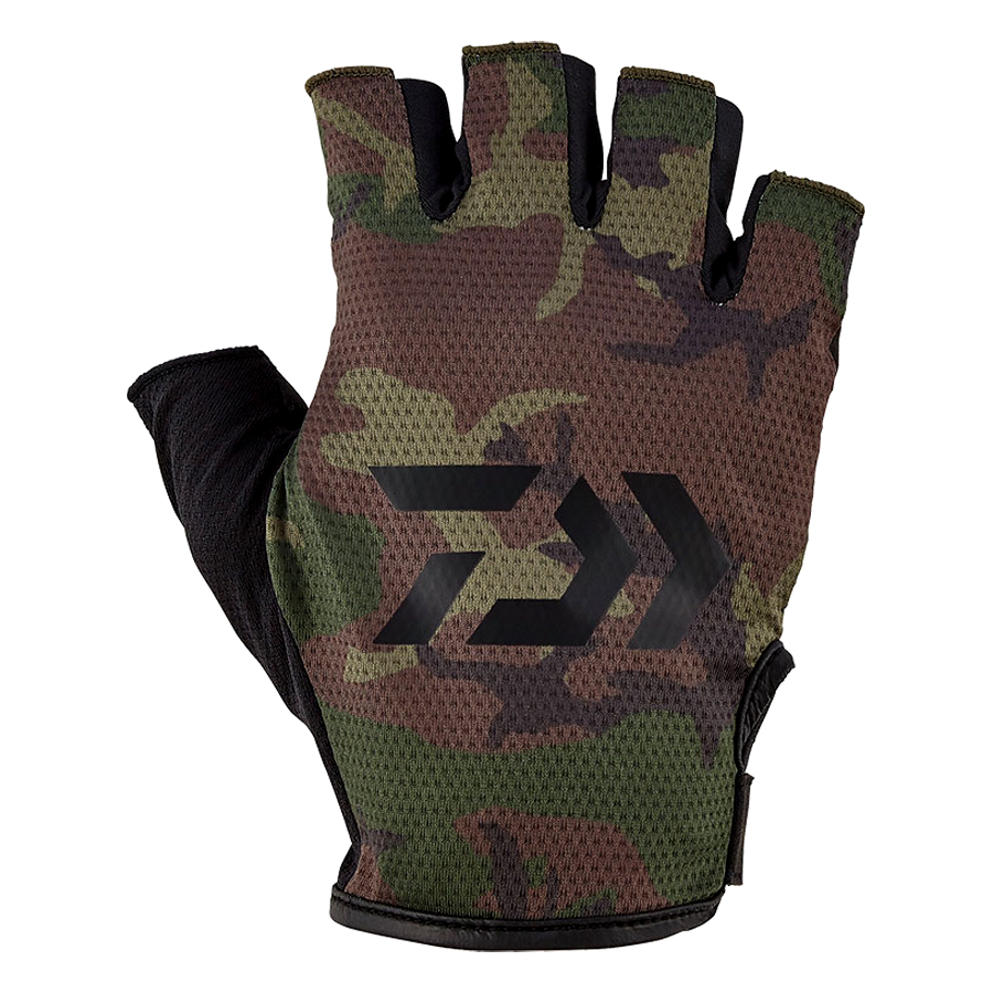 DAIWA GLOVES 5-CUTS DG-65020 #GREEN CAMO SIZE L