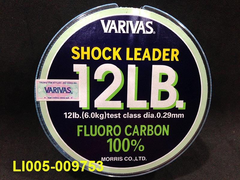 VARIVAS SHOCK LEADER 30M (100% FLUORO CARBON) 12LB
