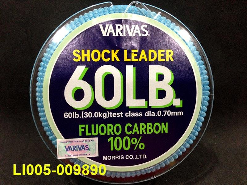 VARIVAS SHOCK LEADER 30M (100% FLUORO CARBON) 60LB