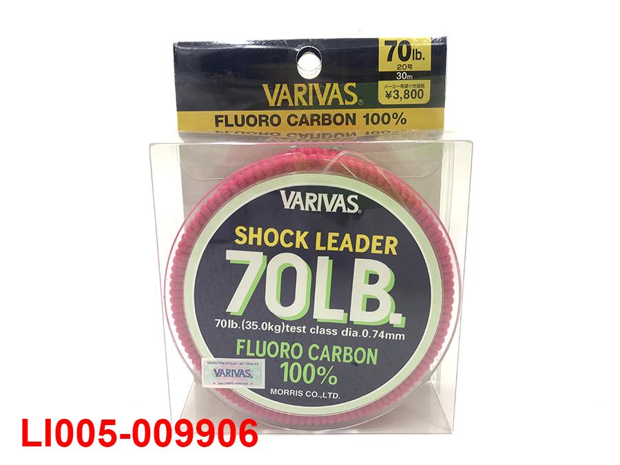 VARIVAS SHOCK LEADER 30M (100% FLUORO CARBON) #20 - 70LB