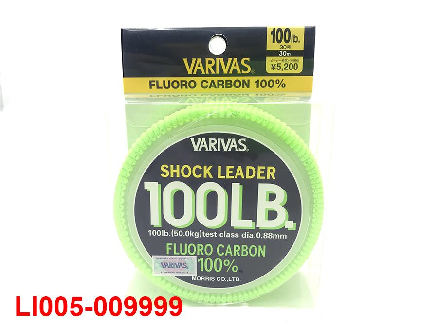 VARIVAS SHOCK LEADER 30M (100% FLUORO CARBON) #30 - 100LB