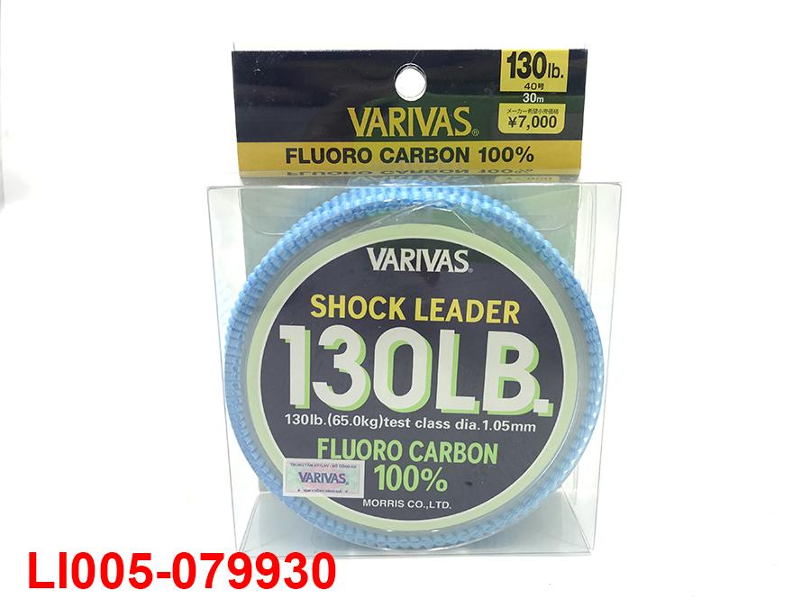VARIVAS SHOCK LEADER 30M (100% FLUORO CARBON) #40 - 130LB