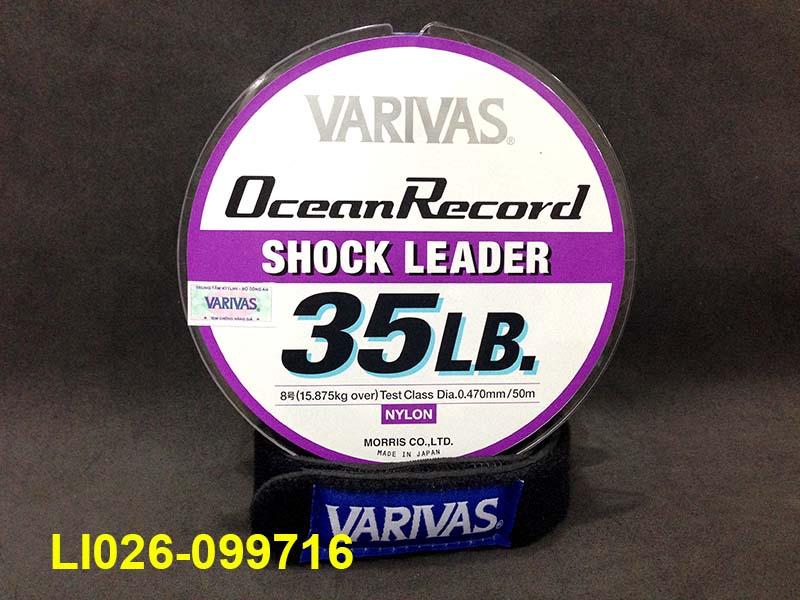VARIVAS OCEAN RECORD SHOCK LEADER 50M #8 - 35LB