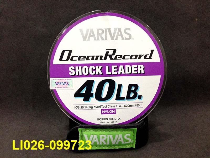 VARIVAS OCEAN RECORD SHOCK LEADER 50M #10 - 40LB