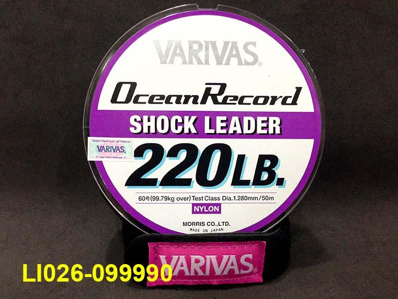 VARIVAS OCEAN RECORD SHOCK LEADER 50M #60 - 220LB