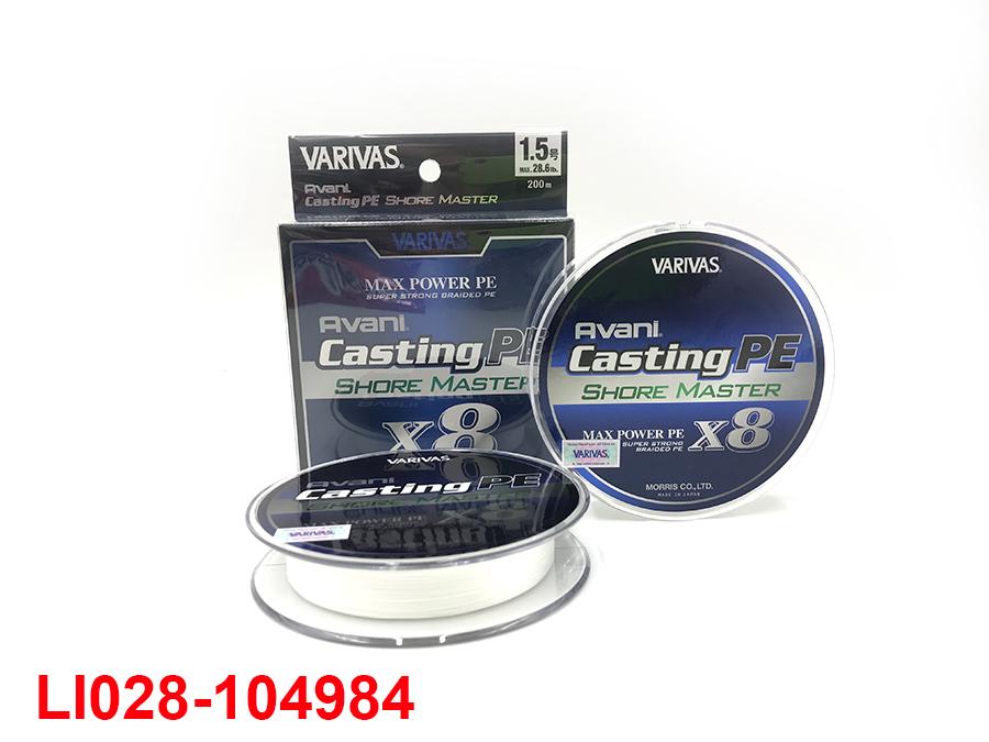 VARIVAS AVANI CASTNG PE SHORE MASTER X8 MAX POWER 200M #1.5