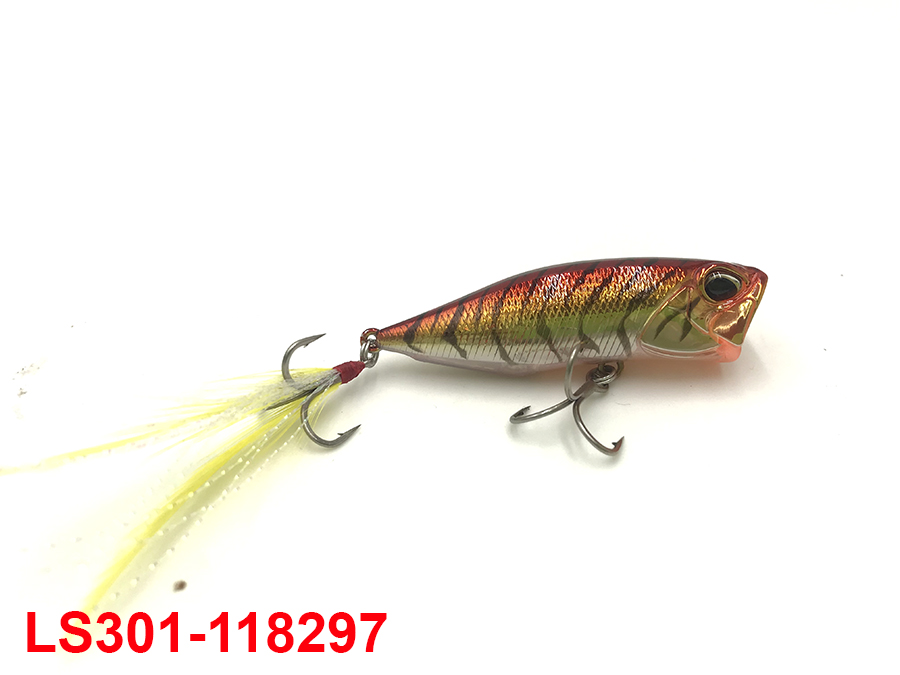 DUO REALIS POPPER 64 CHINU #RED GOLD SHRIMP
