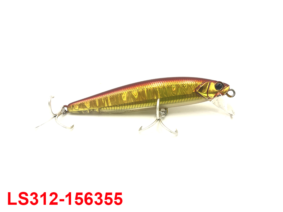 JACKALL BIG BACKER NABLA MINNOW 103 #RED & GOLD
